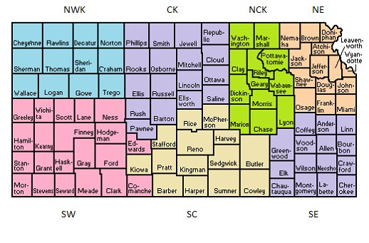 Kansas Regional Library Systems Map