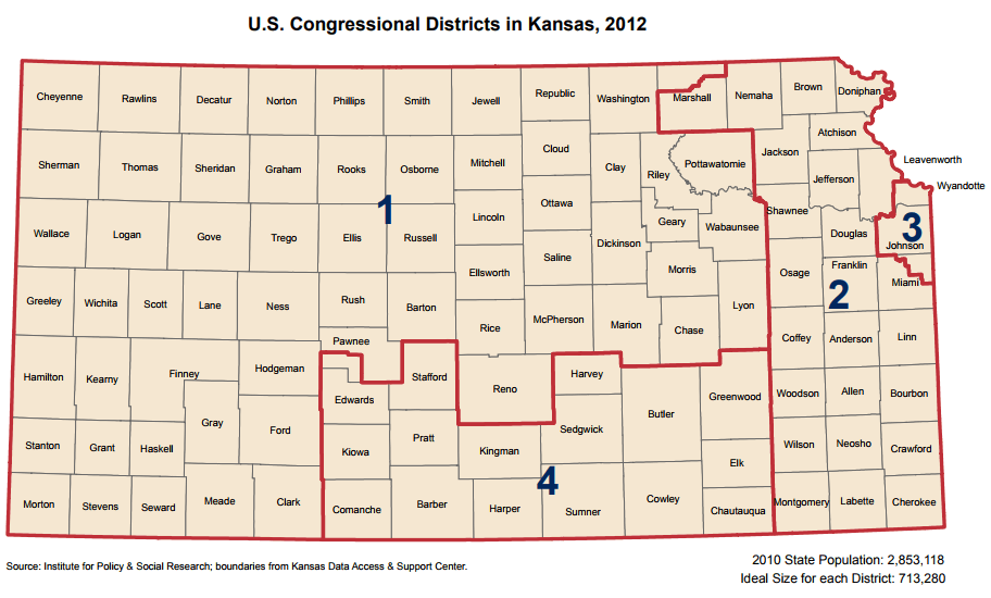 U.S. Congressional Districts in Kansas, 2012
