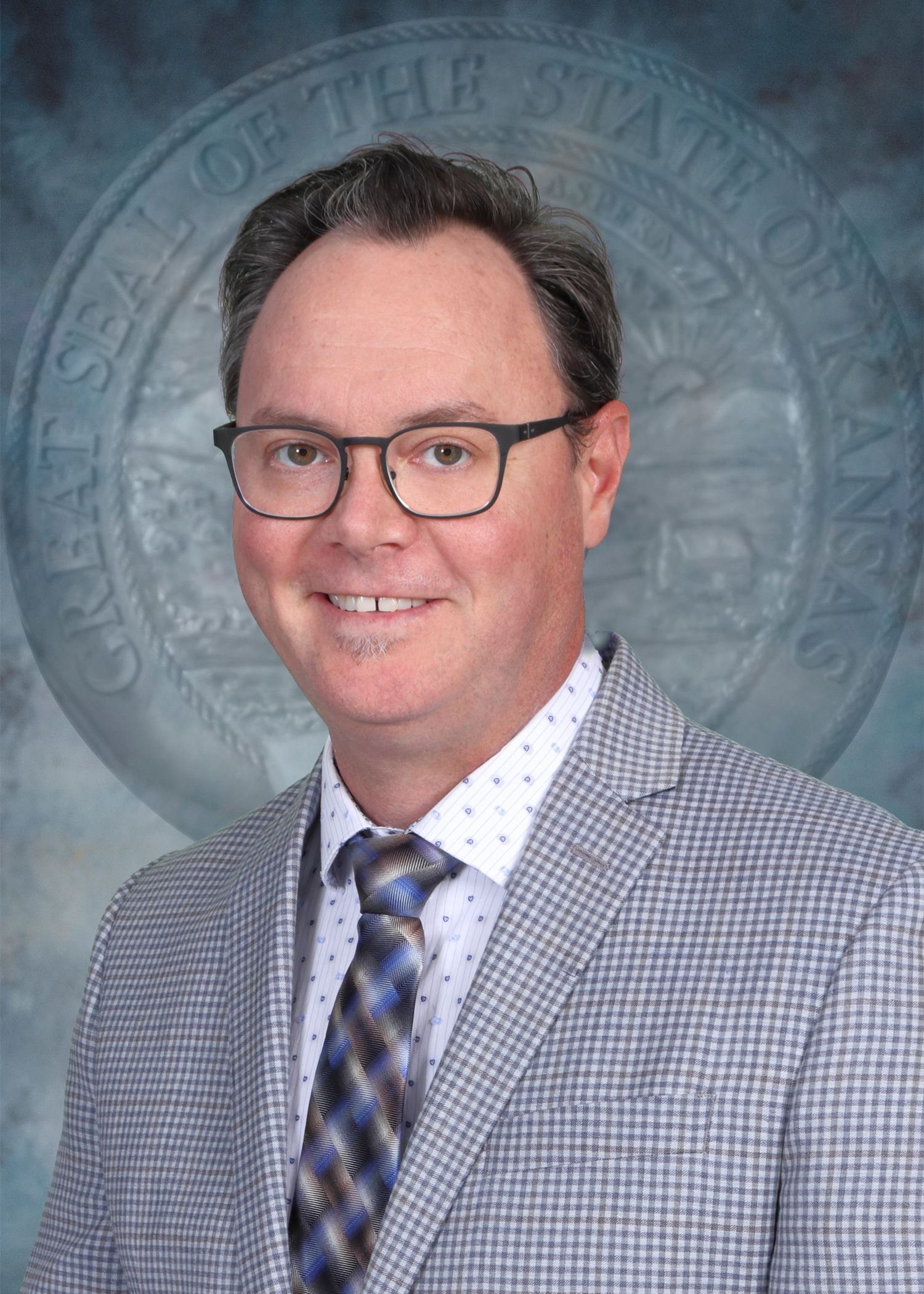 Official Portrait of Eric Norris, State Librarian of Kansas