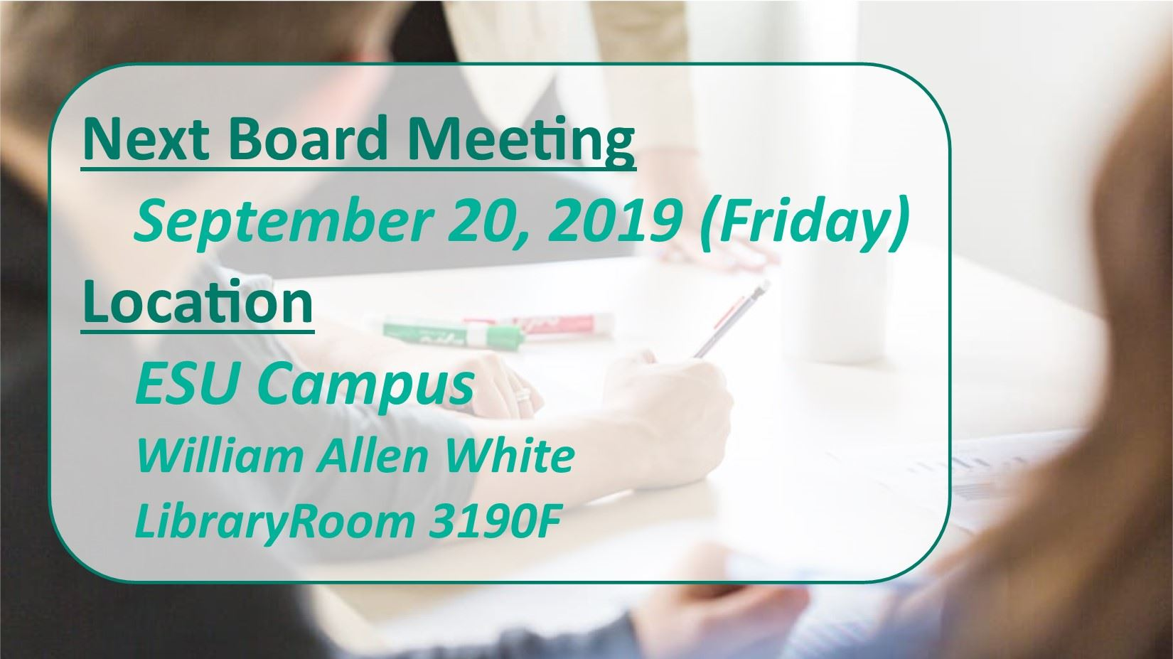 Board Meeting 9.20.19