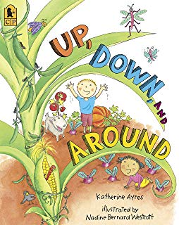 book cover for up down and around by katherine ayres