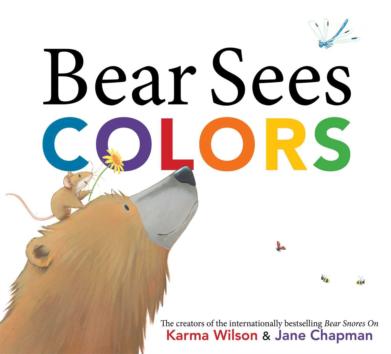 book cover for bear sees colors by karma wilson and jane chapman