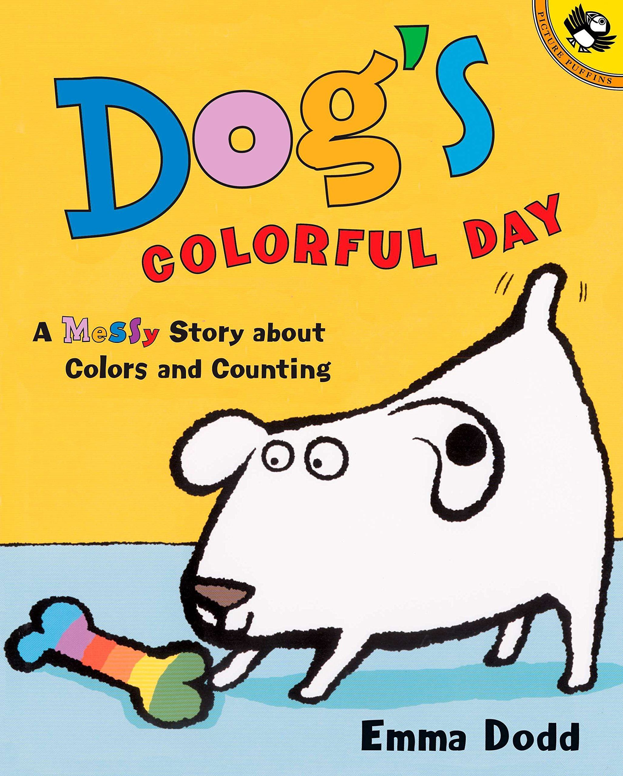 book cover for dog's colorful day by emma dodd