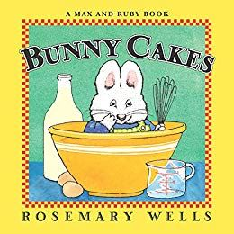book cover for bunny cakes by rosemary wells