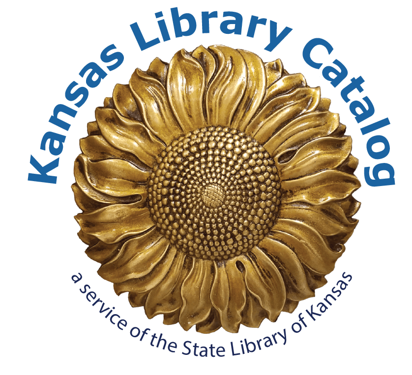 Image of Kansas Library Catalog Logo (sunflower with text). Links to catalog.