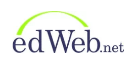 logo for edWeb.net navy blue and lime green