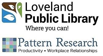 logos for loveland public library and pattern research