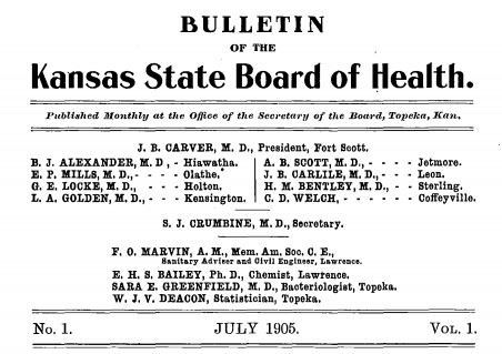 1 July 1905 State Board of Health Bulletin