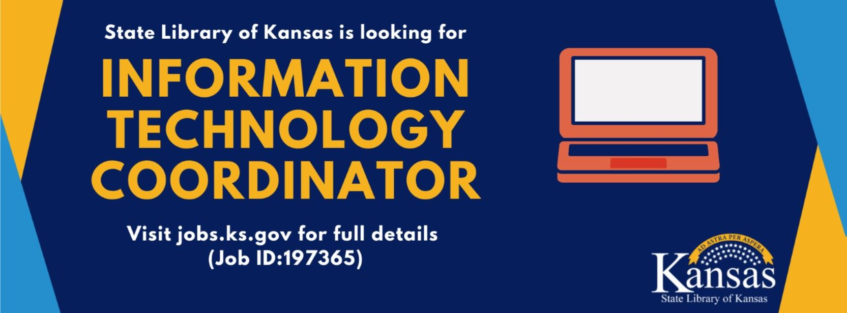 State Library of Kansas looking for i.t. coordinator