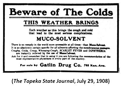Graphic 7-Beware of Colds ad in Topeka State Journal