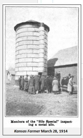 Graphic 9-Members of the Silo Special inspecting metal silo