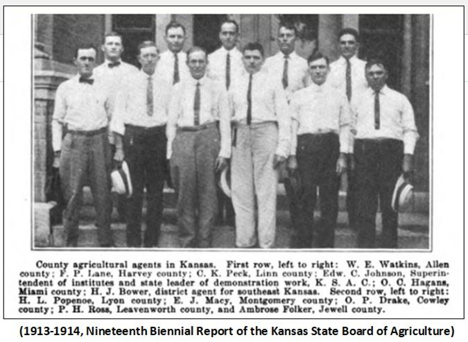 Graphic 2-County agricultural agents in Kansas