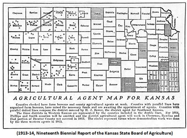 Graphic 4-Agricultural Agent Map for Kansas