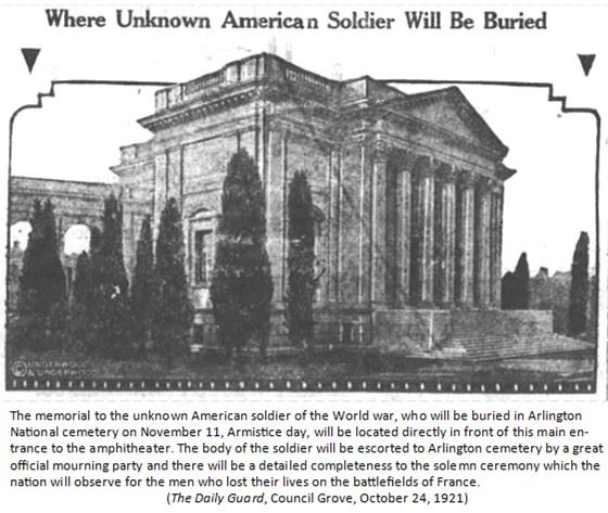 Graphic 3-Where Unknown American Soldier Will Be Buried