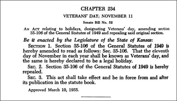 Graphic 6-Chapter 234, Veterans Day, November 11