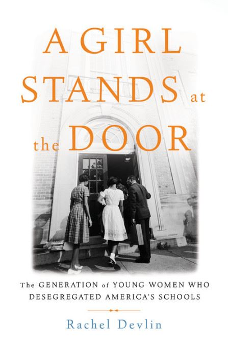 cover art for the book A Girl Stands At The Door by Rachel Devlin